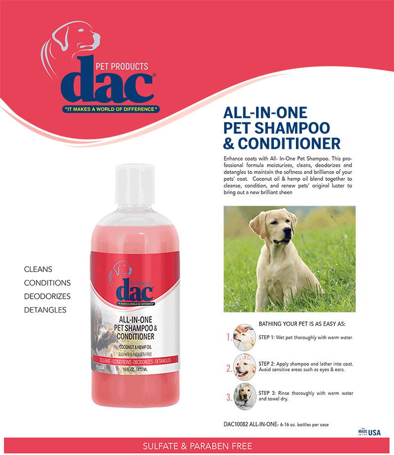 DAC Pet All-In-One Shampoo